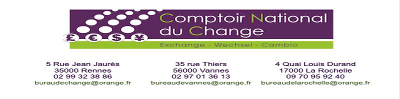 Bureau de change Vannes Bureau de change Rennes Le Comptoir National Du Change